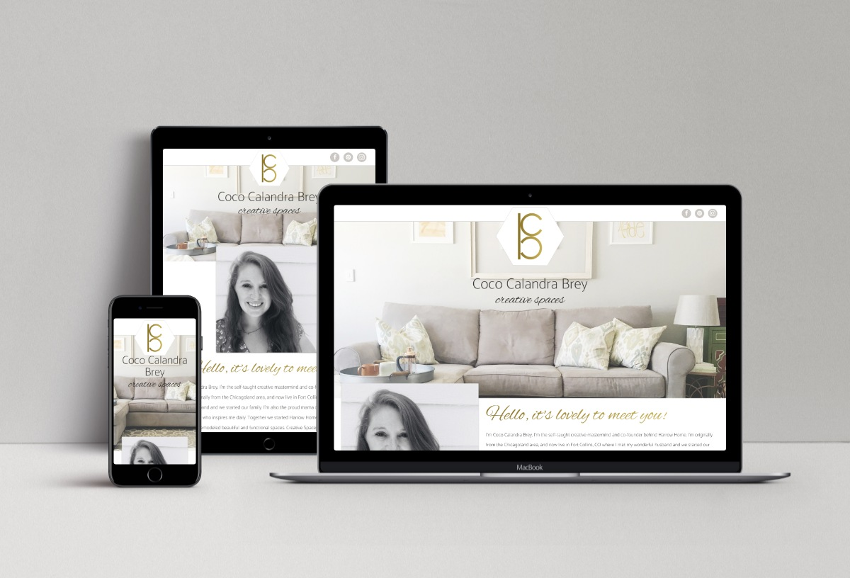 Coco Brey small business website