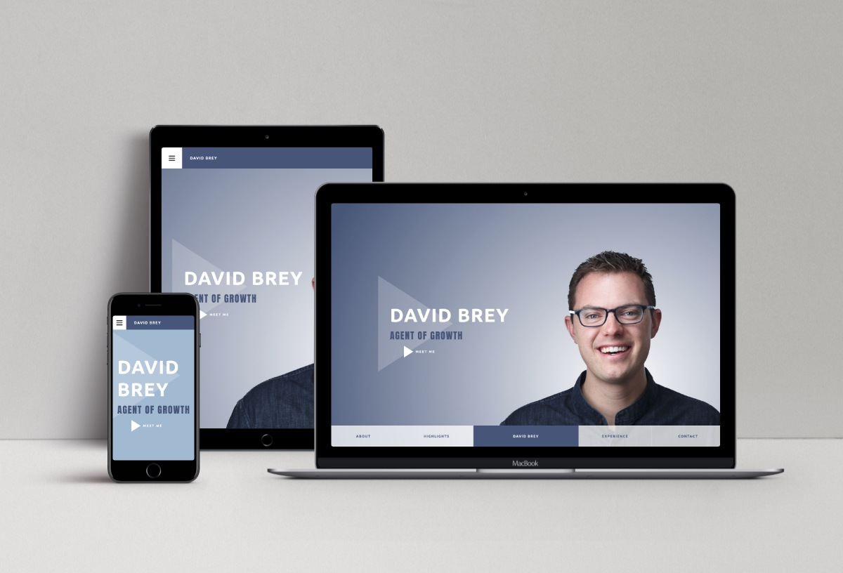 David Brey portfolio website